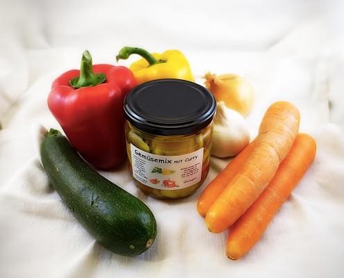 Gemüsemix mit Curry